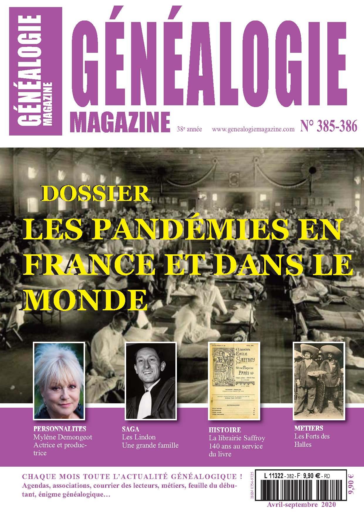 Impression de la revue Généalogie Magazine 385-386