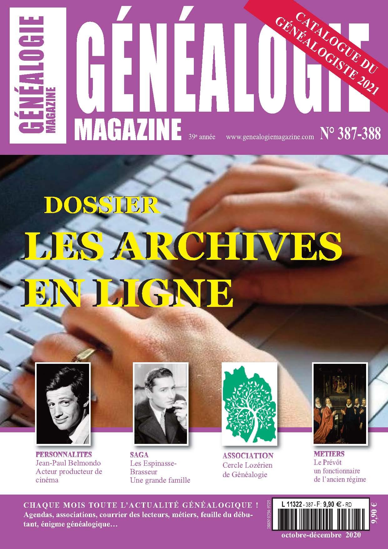 Découvrez le n° 387-388 de Généalogie Magazine