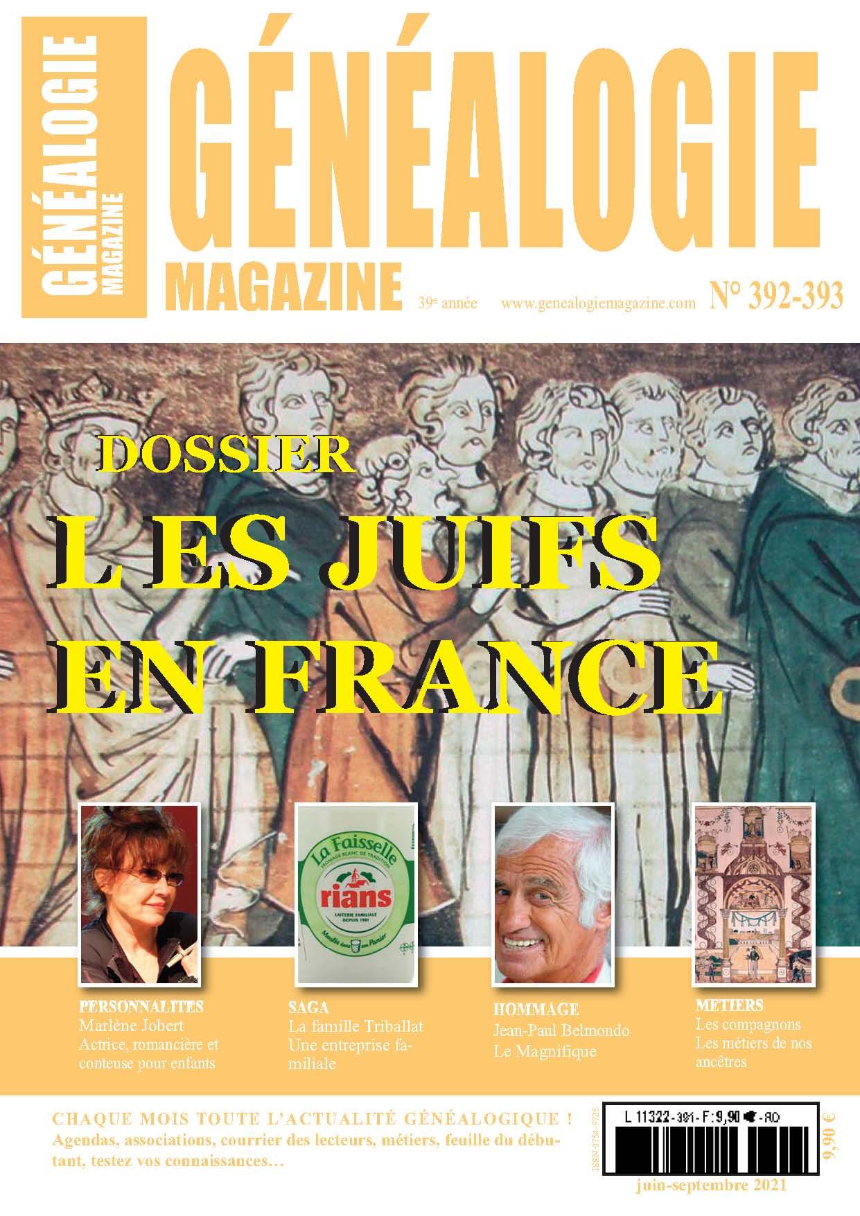 Découvrez le n° 392-393 de Généalogie Magazine