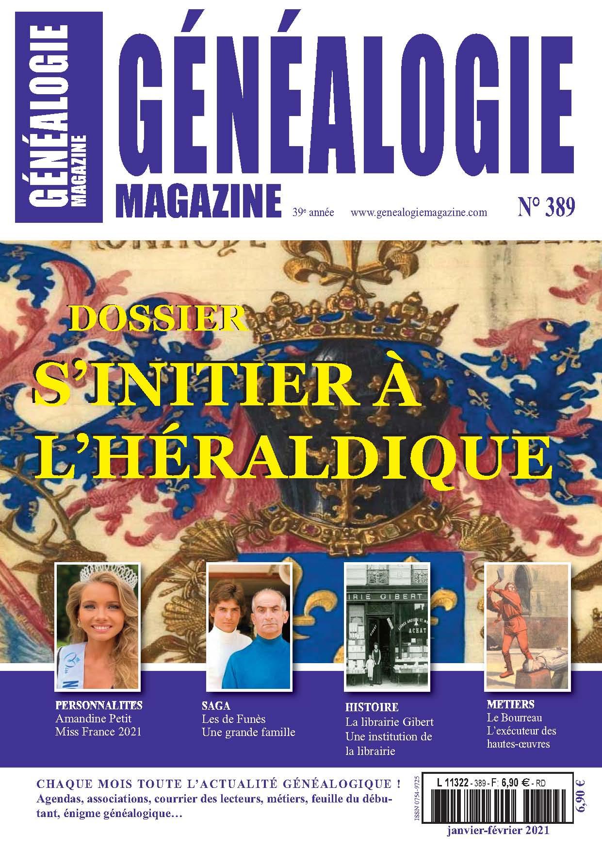 Découvrez le n° 389 de Généalogie Magazine